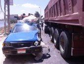 أهالى شبرا أوسيم يعانون من تكرار حوادث الطرق بسبب غياب المطبات الصناعية