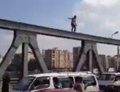 إنقاذ شاب حاول الانتحار بالقفز من أعلى كوبرى عباس بنهر النيل