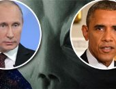 """هل أصابت الكائنات الفضائية """"أوباما"""" بالجنون.. الرئيس الأمريكى يحذر نظيره الروسى من غزو فضائى عام 2017 ويدعوه للمساعدة.. وصحيفة بريطانية: ناسا اكتشفت اقتراب أجسام غريبة من كوكب الأرض"""