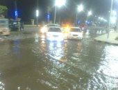 بالصور.. كسر فى ماسورة مياه رئيسية بمدينة بنى سويف