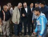 محافظ بنى سويف يتفقد أعمال إصلاح خط المياه فى منطقة العبور