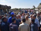 وزير الرى ومحافظ الإسكندرية يتفقدان مصرف القلعة شرق المحافظة