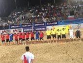 منتخب الكرة الشاطئية يخسر من إيران برباعية فى كأس العالم للقارات