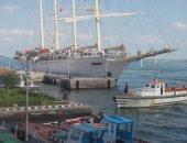 """بالفيديو والصور.. وصول مركب """"star clipper"""" السياحى لميناء بورسعيد الغربى"""