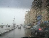 هطول أمطار غزيرة على الإسكندرية وتوقعات باستمرارها حتى الليل