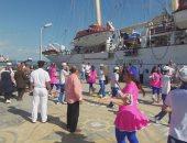 """بالفيديو و الصور.. استقبال سياح السفينة """"ستار كليبر"""" بالسمسمية فى ميناء بورسعيد"""