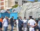 بالصور.. محافظ البحر الأحمر يتابع موقف المدارس المتضررة من السيول برأس غارب