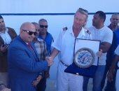 عروض السمسمية فى استقبال عبور سفينة الشراع السياحية بميناء بورسعيد