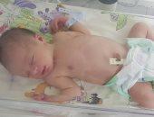العثور على طفل حديث الولادة ملقى بين الزراعات فى بنى سويف