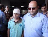 بالفيديو.. تجمهر أهالى الأطفال المصابين بحادث أتوبيس مدرسى داخل مستشفى الكهرباء