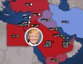 """شاهد فى دقيقة.. """"8 قضايا شائكة"""" تنتظر ترامب فى الشرق الأوسط"""