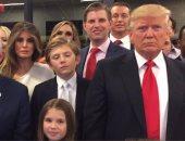 ترامب ينشر صورته مع أسرته خلال متابعة عمليات التصويت فى نيويورك