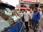 """بالصور .. مدير أمن المنوفية يتفقد مبادرة """"تحيا مصر"""" لنقل الركاب مجانا"""