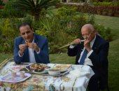 بالصور.. طارق علام فى لقاء مع أشهر ملياردير إيطالى ترك بلاده للعيش بمصر