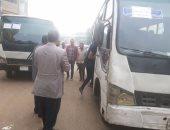 بالصور.. تشغيل خط سيرفيس بمدينة منوف لمواجهة تعريفة الركوب المرتفعة