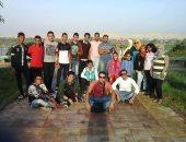 بالصور.. تصميم جدارية بطول 500 متر على كورنيش النيل بالمنيا