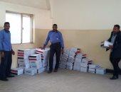"""بالصور.. توزيع 5000 كرتونة """"تحيا مصر"""" على عمال غزل المحلة"""