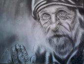 صحافة المواطن.. طالبة ترسل لوحات فنيّة تظهر موهبتها فى رسم البورتريه