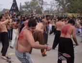 بالصور.. مشاهد دموية فى احتفالات شيعة العراق بذكرى أربعين الحسين بكربلاء