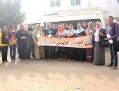 """بالصور.. حملة """"طرق الأبواب"""" تتواصل مع 1500 سيدة ريفية فى 7 قرى بالشرقية"""