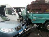 إصابة 23 شخصا فى حادثى تصادم بالطريق الصحراوى الشرقى فى المنيا