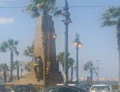 """""""كهرباء الإسكندرية"""" ترد على شكاوى إضاءة الأعمدة نهارا فى محطة الرمل"""