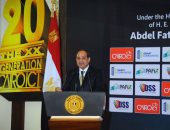 بالصور.. الرئيس السيسى يفتتح الدورة الـ 20 من معرض القاهرة الدولى للاتصالات