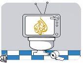 """مراحيض قناة الجزيرة فى كاريكاتير ساخر لـ""""اليوم السابع"""""""