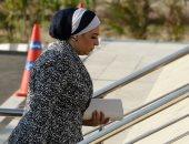 زوجة السفير قطان تشارك فى عزاء والد قرينة الرئيس السيسى