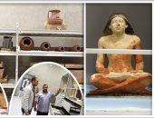 """بالصور.. """"اليوم السابع"""" داخل مخازن مركز الترميم بالمتحف المصرى الكبير.. مدير التسجيل: استلمنا 4 آلاف قطعة من أصل 100 ألف.. نعمل بأحدث آليات التخزين فى العالم.. ورئيس قسم الآثار: المخازن لا يمكن اختراقها"""