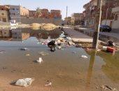 بالصور.. حى الأمل بطور سيناء يغرق فى مياه الصرف الصحى