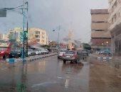 بالصور.. تواصل سقوط الأمطار الخفيفة على مطروح والساحل الشمالى