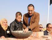 """وزير الإسكان  يضع حجر الأساس لمستشفى """"أهل مصر""""  لعلاج الحروق مجانا"""