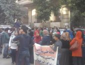حاملو الماجستير دفعة 2015 يتظاهرون أمام الوزراء للمطالبة بالتعيين
