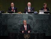 أمين الأمم المتحدة يبحث مع وزير الخارجية السويسرى التطورات السياسية بالعالم