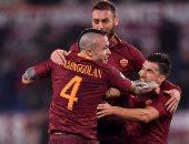 شاهد.. روما يصعد لربع نهائى كأس إيطاليا فى غياب محمد صلاح