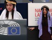 بالصور.. البرلمان الأوروبى يكرم الإيزيديتين نادية مراد ولمياء بشار