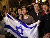 تظاهرة ضد نتنياهو احتجاجا على تفكيك مستوطنة إسرائيلية فى الضفة الغربية