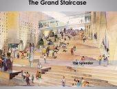 انتهاء 100% من تثبيت الملوك على الدرج العظيم بالمتحف المصرى الكبير