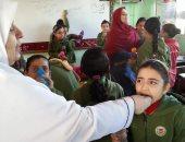 """""""صحة أسوان"""": تكثيف الجهود للانتهاء من تطعيم الطلاب ضد الالتهاب السحائى"""