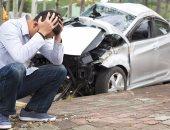 مصرع شخصين فى حادث تصادم سيارة وتروسيكل أعلى دائرى المريوطية