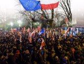 """صور.. مصادمات وأعمال عنف مع الشرطة البولندية خلال """"مسيرة المساواة"""""""