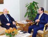 السيسي يؤكد دعم مصر لسيادة العراق ورفض التدخل فى شئونه