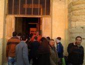 محافظ الفيوم يشهد ظاهرة تعامد الشمس على قدس الأقداس بمعبد قصر قارون
