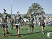 بالصور.. ميلان يتدرب لأول مرة فى قطر قبل السوبر الإيطالى