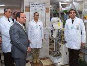 السيسي يفتتح المرحلة الرابعة لتطوير المجمع الطبى بكوبرى القبة