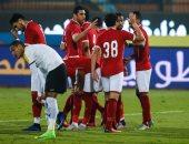 عماد متعب يُحرز الهدف الرابع للأهلي فى مرمى الألومنيوم