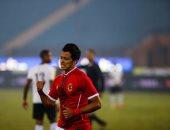 عمرو جمال يحرز الهدف الثالث للأهلي فى مرمى الألومنيوم