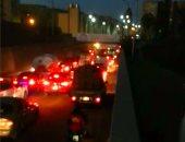 بالصور.. توقف حركة المرور بكوبرى كفر الزيات فى الغربية لأعمال صيانة