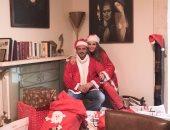"""نيكول سابا وزوجها يوسف الخال يحتفلان بالكريسماس بزى """"سانتا كلوز"""""""